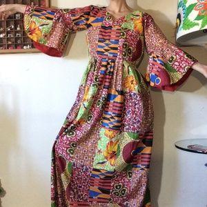 Handmade Gypsy Hippie Tribal Hawaiia Dress